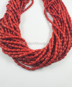 Italian Red Coral Drum Shape